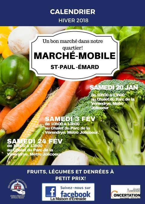 Affiche marché mobile